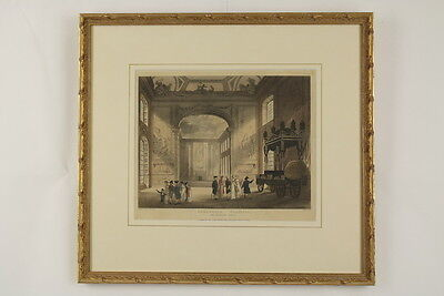 Thomas & Augustus Charles ROWLANDSON & PUGIN - Greenwich Hospital UK London 1800