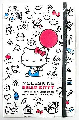 "Moleskine Hello Kitty Limited Edition Ruled Notebook 240 Pages 5"" x 8.25"" >NEW<"