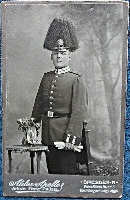 WW 1 German Soldier Standing , Picklehaupe, Buckle, Sword, Dresden FREE SHIPPING