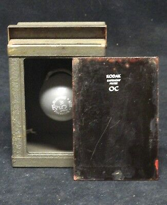 "KODAK * AMBER SAFELIGHT FILTER OC * 5"" X 3.75"" * VINTAGE * Safe light lamp"
