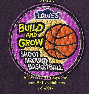 LMH PATCH Badge  2011 SHOOT AROUND BASKETBALL Basket  LOWES Build Grow Workshop