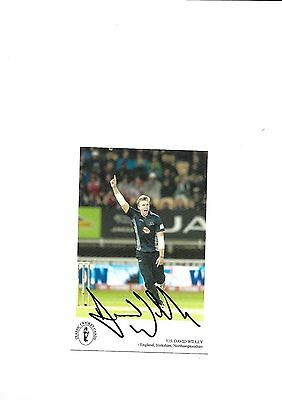 Classic Cricket Card - David Willey (Hand Signed)