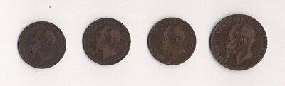 ITALY OLD COINS x 4. 1861-1867