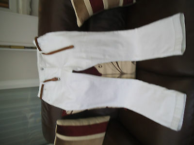 ladies white straight jeans nwot size 16
