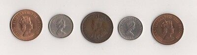 JERSEY OLD COINS x 5