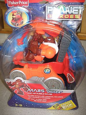 Planet Heroes - Mars (Digger with Rover) New