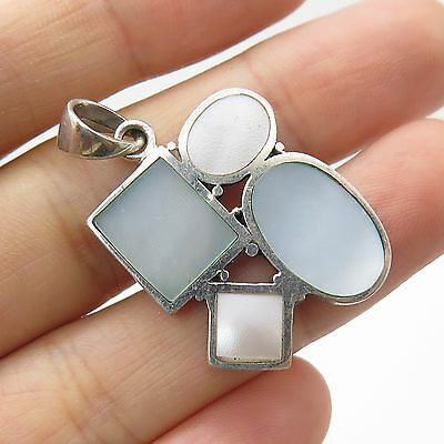 925 Sterling Silver Mother-Of-Pearl Pendant