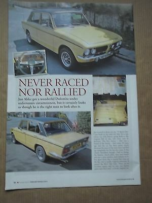 Triumph Dolomite Sprint - Never Raced Or Rallied