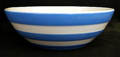 TG Green Blue & White Cornishware Cereal Bowl : 17.5cm - VGC