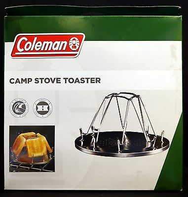 Coleman Stainless Steel 4 Slice Camp Stove Toaster - BNIB