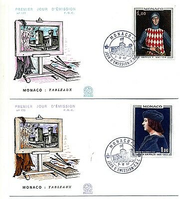 Monaco 1967 Paintings First Day Covers