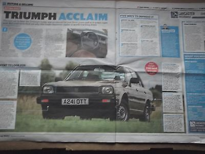Triumph Acclaim - Buying Guide