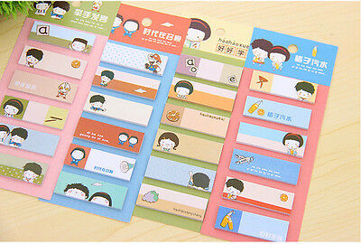 w) Cute Funny Joy Sticker Post Bookmark Memo Marker Point Flags Sticky Notes 1PC