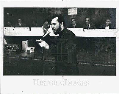 1981 Press Photo Father Jack Hurley Chicago Police Board