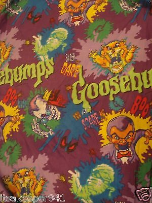 Vintage Goosebumps RL Stine Full / Double Size  Fitted Sheet Fabric Cutter 54x76