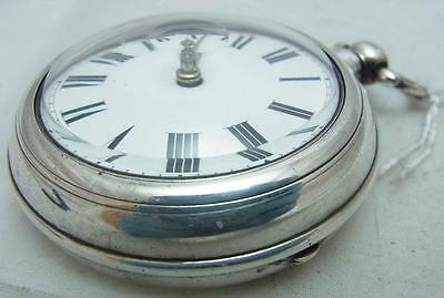 A Working Silver 1877 Verge Fusee Pair Case with Watch Repair Paper Refswan 146