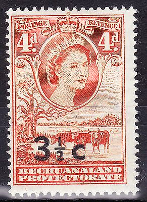 Bechuanaland 1961 3.5d SURCHARGE TYBE ii SHOWING WIDE SURCH SG161bc MVLH FULLOG