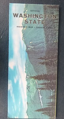 1961 Washington  road  map Official state highway
