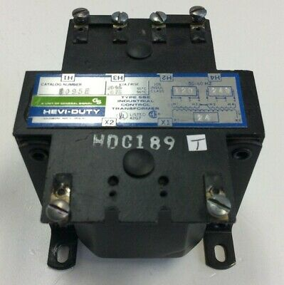 Hevi Duty E095E Control Transformer, .075 KVA, In 120/240VAC, Out 24VAC, 50/60Hz