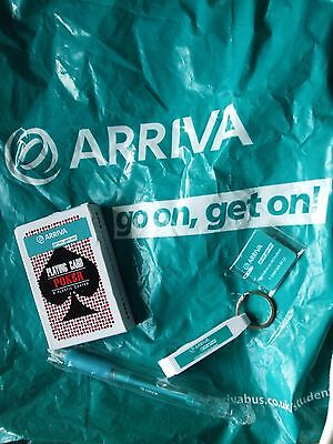 "5 Items Of Arriva ""bumph"" - Pen/bag/keyring/cards - Unused - Free P&p!!"