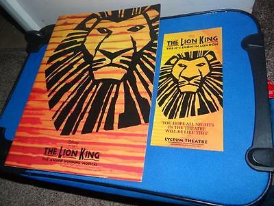 Disney The Lion King Lyceum Theatre Brochure From 2001