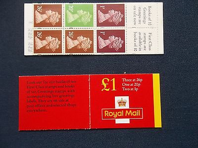FH41b £1 MACHIN GB FOLDED STAMP BOOKLET NO OVERSEAS POSTAGE RATE