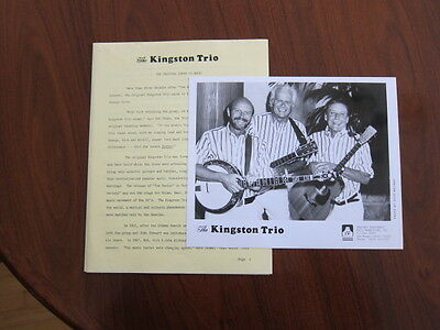KINGSTON TRIO Press kit 1990 with 8x10 photo 11 pages