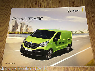 RENAULT - The Trafic Sales Brochure 1/2017