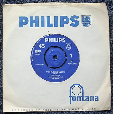 """Eileen Duffy What If Johnnie Says No? POP EXCELLENT 1960s  7 """" INCH 45RPM"""