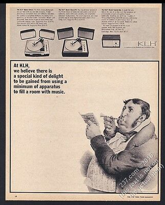 1966 KLH model 11 11W 21 stereo system photo vintage print ad