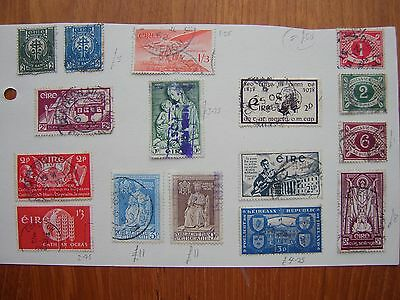 Ireland: collection old stamps, including high catalogue, on 2 pages (2 photos)