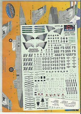 Astra Decals 7209 F-16C Falcon USAFE Aviano decals in 1:72 Scale