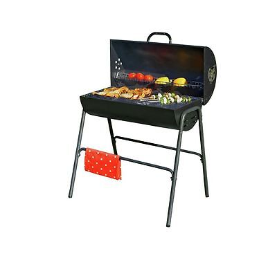 Oil Drum Charcoal BBQ Barbecue with Lid - Patio, Garden Barbecuing