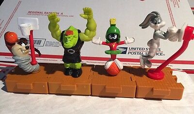 Collectible Space Jam Looney Tunes McDonald's 1996 Happy Meal Toys ~ Lot Of (4)