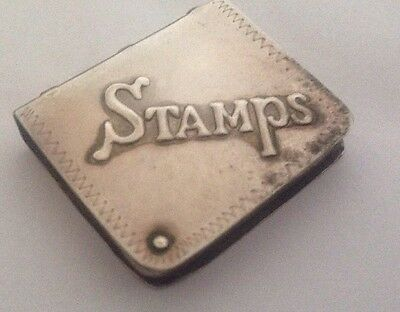 Antique Sterling Silver Stamp Case Box