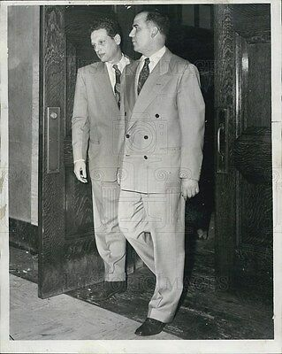 1951 Press Photo Police Officer Michael Moretti and Attorney