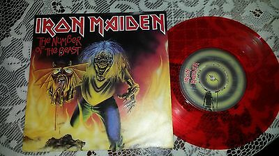 IRON MAIDEN The Number of the Beast UK EMI 1982 EMI 5287 RED VINYL