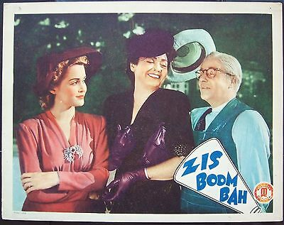 ZIS BOOM BAH College Comedy Vaudeville 1941 LOBBY CARD Movie Poster