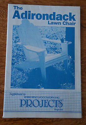 Vintage FULL SIZED PATTERN Weekend Woodworking Magazine ADIRONDACK LAWN CHAIR