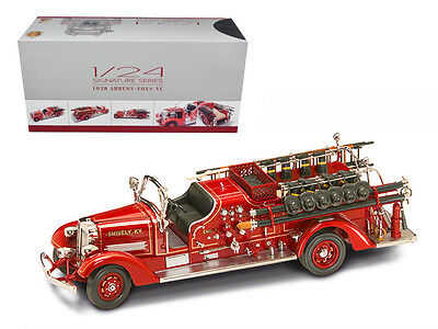 1938 Ahrens Fox VC Fire Engine Truck Red with Accessories 1/24 Diecast Model by