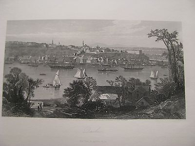 1874 ORIGINAL View of Quebec, Canada