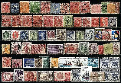 Selection Of 70 Used Australia Stamps