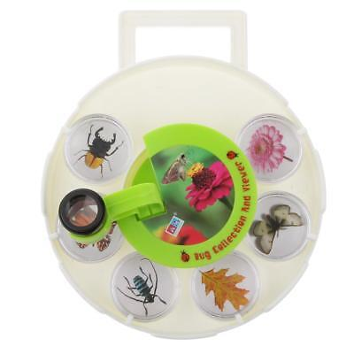 Bug Insect Observation Box Kids Toy Magnifier Magnifying Glass Showing Props