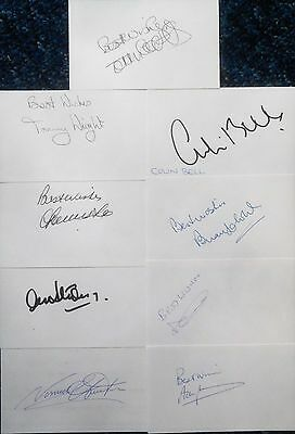 9x England team World Cup 1970 signed Autograph cards / Bobby Moore 1966
