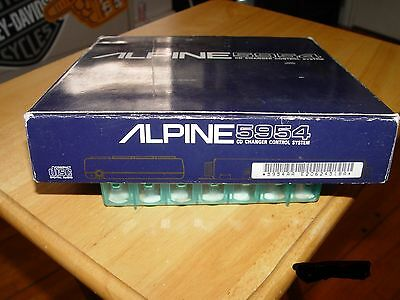 Alpine 5954 Cd Changer Control System Used *brain Only* No Control Pad Very Rare