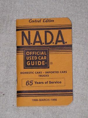 NADA OFFICIAL USED CAR GUIDE ~ March 1998 ~ Central Edition / Chevy Ford Dodge