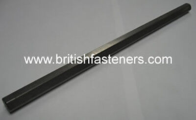 """BSW British Standard Whitworth Stainless hex bar stock 5/16""""W (.520"""") - 10"""" long"""