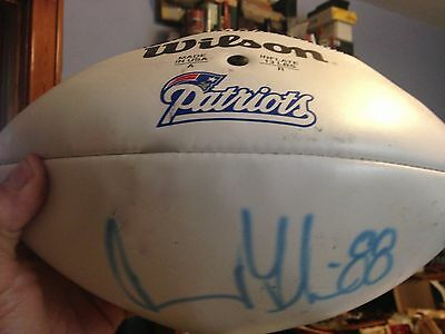 Authentic Wilson NFL Football Owned & Signed New England Patriots Terry Glenn