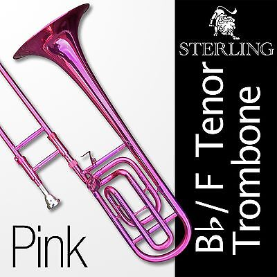 Bb/F TENOR TROMBONE • PINK •With F Trigger • High Quality • Brand New with Case•