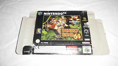 DONKEY KONG 64 : ORIGINAL OUTER BOX (ARTWORK) ONLY , nintendo 64